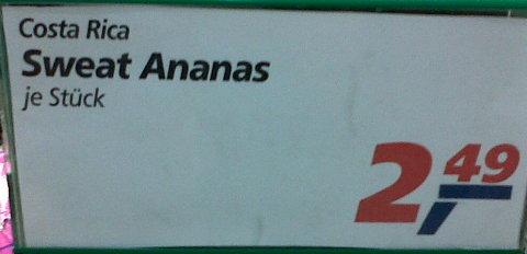 Schweiß-Ananas