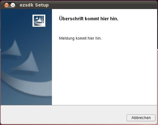 Fehlermeldung von EZSDK-Setup