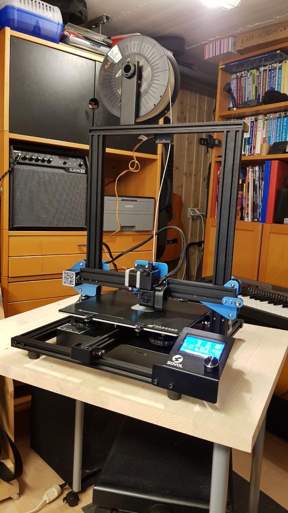 Aufgebauter 3D-Drucker